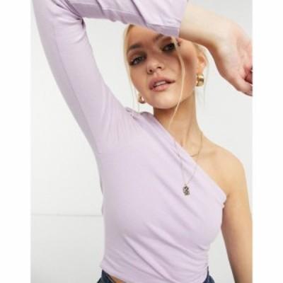 コットンオン Cotton:On レディース トップス One Shoulder Long Sleeve Top In Lilac ライラック