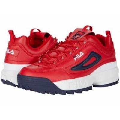 Fila フィラ メンズ 男性用 シューズ 靴 スニーカー 運動靴 Disruptor II Premium Fila Red/White/Fila Navy【送料無料】