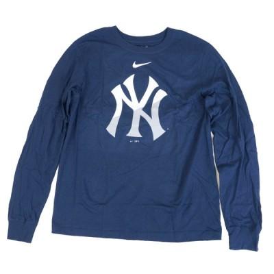 ヤンキース MLB Tシャツ メンズ 長袖 ロンt ナイキ Nike ネイビー Angle Logo Long Sleeve T-Shirt 21nrs