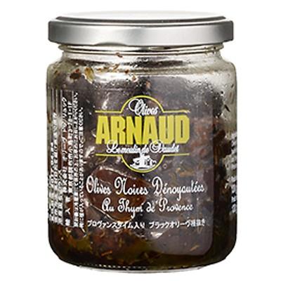 プロヴァンスタイム入りブラックオリーヴ種抜き / 130g 世界の食材 イタリアンと洋風食材