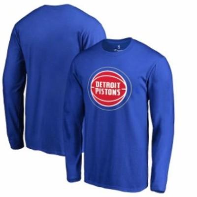 Fanatics Branded ファナティクス ブランド スポーツ用品  Fanatics Branded Detroit Pistons Blue Primary Logo Long Sleeve T-Shirt