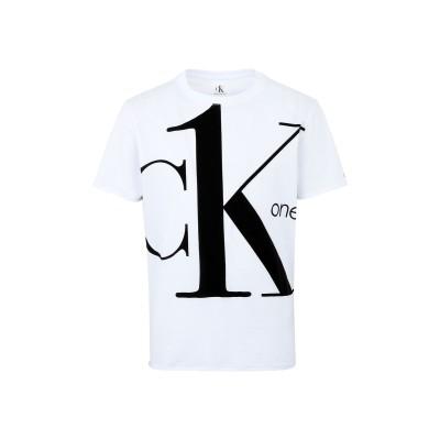 YOOX - CALVIN KLEIN JEANS T シャツ ホワイト L コットン BCI 100% T シャツ