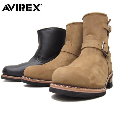 AVIREX アビレックス #AV2225 HORNET エンジニア レザーブーツ【ブラック】【クレイジーホース】本革 カジュアル メンズ ミリタリー ホーネット バイカー 靴