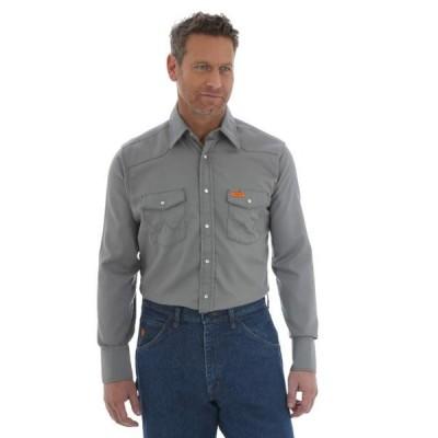 メンズ シャツ トップス Flame Resistant Snap Long Sleeve Lightweight Work Shirt