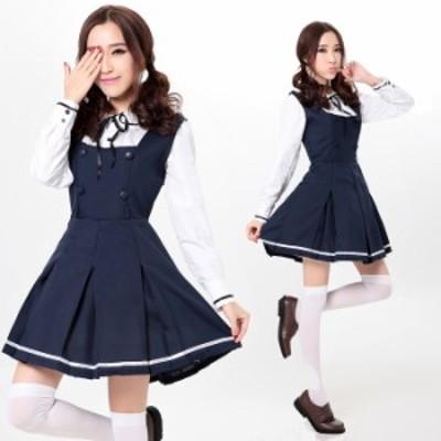 紺 ワンピース コスプレ衣装