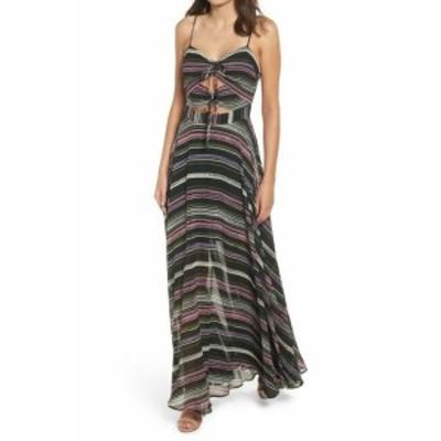 Wayf ウェイフ ファッション ドレス WAYF NEW Black Sweetheart Neck Women Size Medium M Striped Maxi Dress