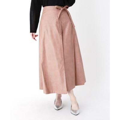 ZAMPA(ザンパ) エコレザーラップロングスカート