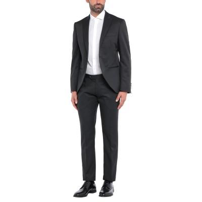 LUIGI BIANCHI Mantova スーツ ブラック 52 ポリエステル 54% / ウール 46% スーツ