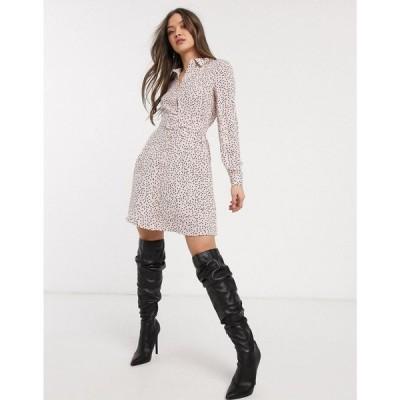 ウェアハウス Warehouse レディース ワンピース シャツワンピース ワンピース・ドレス shirt dress in polka dot pink ピンクプリント