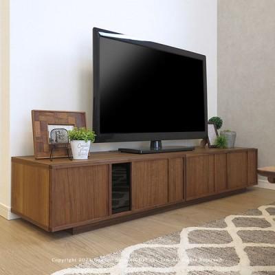 ローボード テレビボード テレビ台 開梱設置配送 幅170cm ウォールナット材 木製 格子扉 格子デザイン 和モダンテイスト