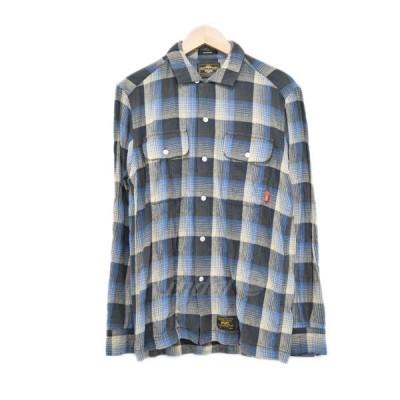 【4月13日値下】WTAPS 12SS チェックシャツ VATOS L/S 121GWDT-SHM04 ブルー サイズ:S (心斎橋アメリカ村店)