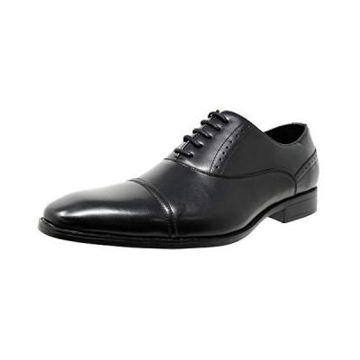[神戸リベラル] LIBERAL メンズビジネスシューズ 【国内販売店】 ストレートチップ 内羽根 紳士靴 LB208 (27.0 ブラック)