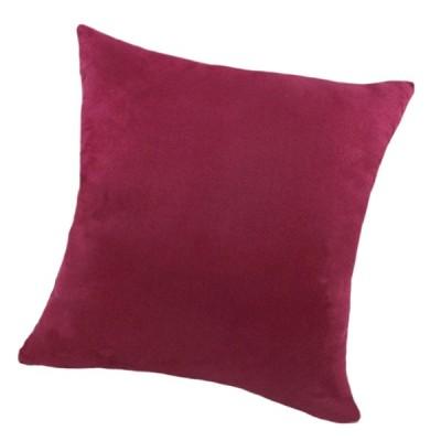 柔らかいビロードの枕カバー無地投球枕ケースWine-45x45cm