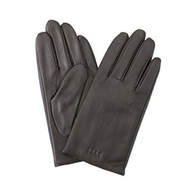 ELLEHomme 6628 メンズ レザー 手袋 カシミヤ 100% インナー ケース付 D-Brown