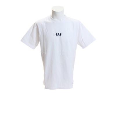 ヘビー天竺 刺繍ロゴTシャツ SAS1917205-1-WHT