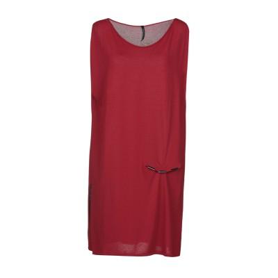 PIERANTONIO GASPARI ミニワンピース&ドレス レッド 44 レーヨン 65% / ナイロン 35% ミニワンピース&ドレス