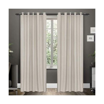 Mitlatem Beige Full Blackout Curtains 84 Inches Long Bedroom Blind Darkening Window Treatment, 72 x 84 inch x 2 Panels