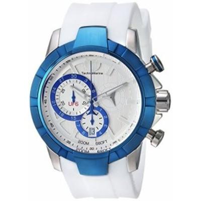 TechnoMarineメンズ uf6? Quartzステンレススチールand Silicone Casual Watch , Color : White ( Model : tm-615013?)