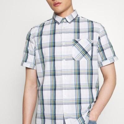 トム テイラー メンズ シャツ RAY COLOURFUL CHECK PACKAGE - Shirt - white base/blue