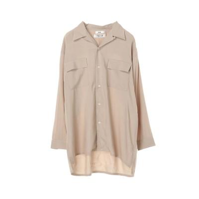 【S~Lサイズ・ユニセックス対応】レーヨンオープンカラーシャツ
