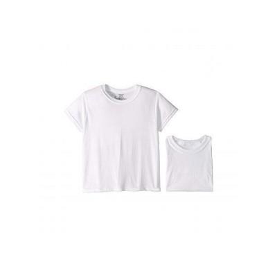 Hanes Kids 男の子用 ファッション 子供服 Tシャツ Platinum Cotton Crew (Big Kids) - White