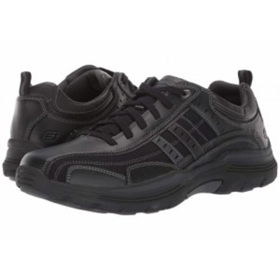 SKECHERS スケッチャーズ メンズ 男性用 シューズ 靴 スニーカー 運動靴 Relaxed Fit Expended Manden Black【送料無料】