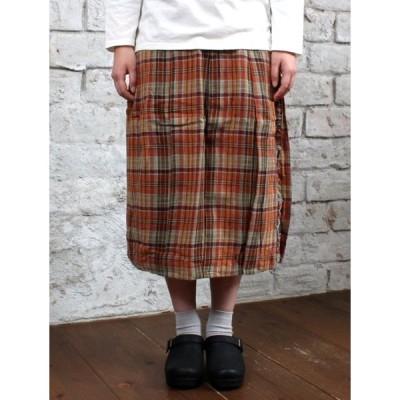 【sale セール】Style+confort(スティルエコンフォール)ダブルガーゼチェックラップスカート【ネコポス便不可】【あす楽対応】レディース・