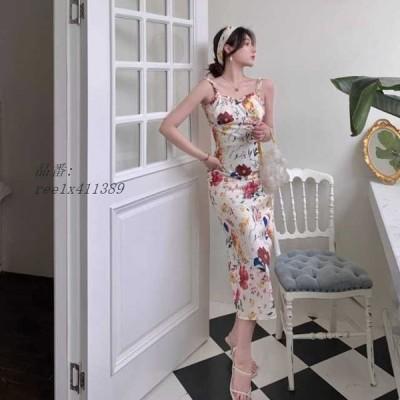 ワンピース セレブファッション 花柄 ロングワンピース パーティードレス 着痩 50代 40代 同窓会 二次会 30代 キレセク 披露宴 上品 大人 結婚式