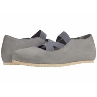 Birkenstock ビルケンシュトック レディース 女性用 シューズ 靴 フラット Santa Ana Whale Gray Nubuck【送料無料】
