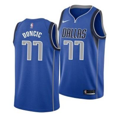 ナイキ メンズ ユニフォーム トップス Men's Luka Doncic Dallas Mavericks Icon Swingman Jersey Blue
