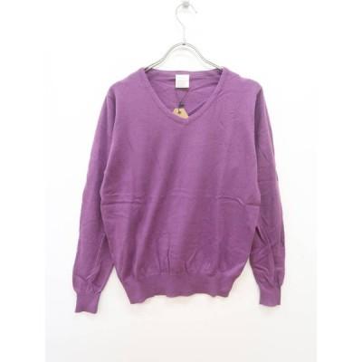 zootie(ズーティー)Vネックニットトップス 長袖 紫 レディース 新品 L