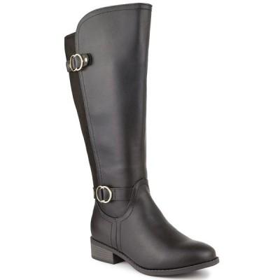 ケレンスコット ブーツ&レインブーツ シューズ レディース Leandraa Extended Wide-Calf Riding Boots,  Black