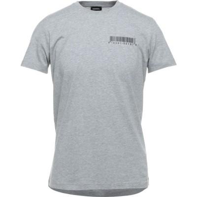 ディーゼル DIESEL メンズ Tシャツ トップス T-Shirt Light grey
