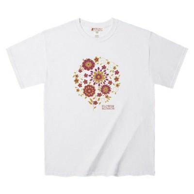 Tシャツ 春向きの花の刺繍 グラフィック デザインTee