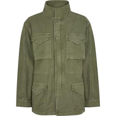 フレーム Frame レディース ジャケット アウター Service Green Cotton Cargo Jacket Green