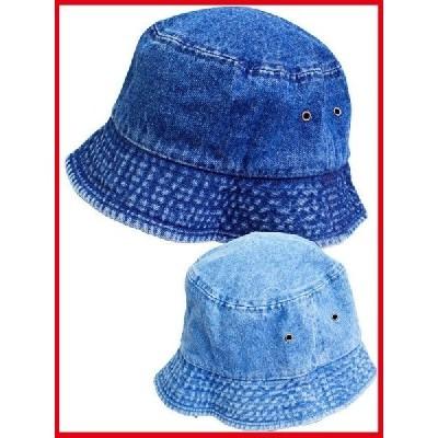 バケットハット 帽子 デニム ジーンズ ニューハッタン/NEWHATTAN メンズ レディース コットン100% 1530