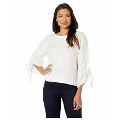 Kenneth Cole New York レディースその他 Kenneth Cole New York Long Sleeve Cropped Boat Neck w/ Gathered Sleeves T