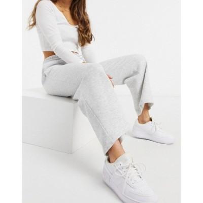 モンキ レディース カジュアルパンツ ボトムス Monki Kajsa organic cotton wide leg sweatpants in gray Grey