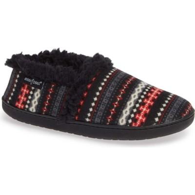 ミネトンカ MINNETONKA レディース スリッパ シューズ・靴 Dina Slipper Black Knit Fabric