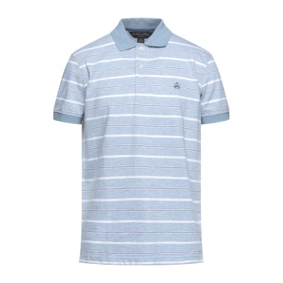 ブルックス ブラザーズ BROOKS BROTHERS ポロシャツ スカイブルー S コットン 86% / リネン 14% ポロシャツ