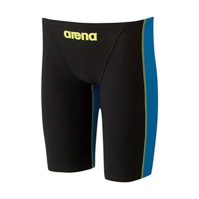 arena(アリーナ) メンズ 競泳用 水着 ハーフスパッツ アクアフォース フュージョン ブラック×Jブルー×イエロー ARN-2001MN BKBU Sサイズ
