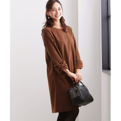 袖リボンがかわいい♪フェイクウールワンピース (ワンピース)Dress