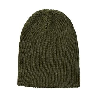 [エムシー] ニット帽 ニットキャップ 帽子 リブ編み リブニット帽 (5-カーキ Free Size)