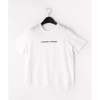 LUMINOSO COMMECA/ルミノーゾ・コムサ 【超接触冷感】フォーチュンTシャツ ホワイト 9号