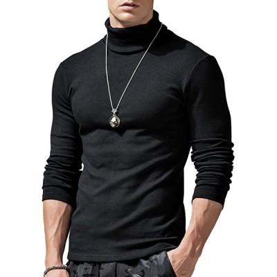 メンズセーター ハイネック スリム おしゃれ ニット 厚手 無地 暖かい カジュアル インナーシャツ メンズ 肌着 長袖 T(s2103102218)