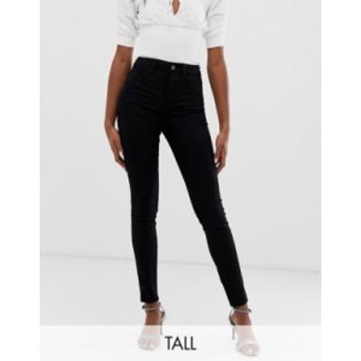 ニュールック レディース デニムパンツ ボトムス New Look Tall disco skinny jeans in black Black