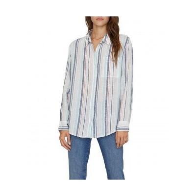 Sanctuary サンクチュアリ レディース 女性用 ファッション ボタンシャツ Keeper's Boyfriend Shirt - Mini Garden Stripe