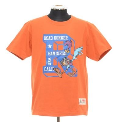 Cheswick チェスウィック Tシャツ ROAD RUNNER サイズM コットン USA製 LOONEY TUNES ルーニーテューンズ ロードランナー メンズ オレンジ