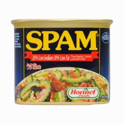 うす塩スパム(SPAM)・ポークランチョンミート|沖縄土産|保存食[食べ物>缶詰>ポークランチョンミート]