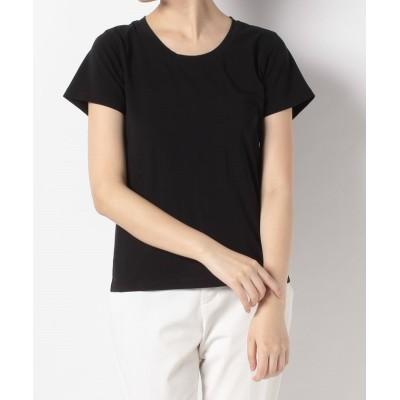 【アン レクレ】 ベーシックデザイン半そでTシャツ レディース ブラック 2 en recre
